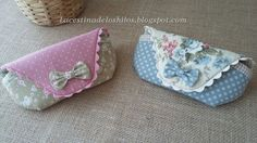 La cestina de los hilos: Funda para gafas (tutorial) Purse Patterns, Sewing Patterns Free, Free Sewing, Sewing Tutorials, Sewing Hacks, Sewing Art, Sewing Crafts, Sewing Projects, Fabric Purses