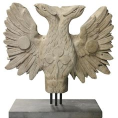 f3d400805 19th Century Two Headed Eagle Sculpture 1 Slate, 19th Century, Eagle, Lion  Sculpture