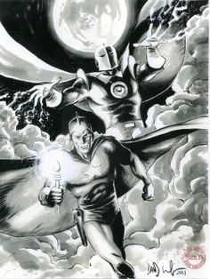 Starman & Dr. Fate by Dave Wachter
