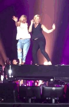 And it was some adorable, spirited dancing. | Jennifer Lawrence And Amy Schumer Danced Onstage Together At A Billy...