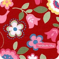 Love this fabric line - 'Flower Sugar' from Fat Quarter Shop
