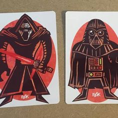 Darth vader and kylo ren print set