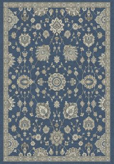 Dynamic Rugs Farahan 95052 Blue/Ivory Area Rug – Incredible Rugs and Decor