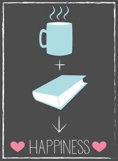 Coffee + Book = Happiness! #Coffee