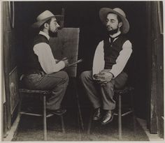 'henri de toulouse-lautrec (henri de toulouse-lautrec (french, albi 1864–1901 saint-andré-du-bois)) as artist and model' by maurice guibert (french, 1856–1913), 1892  gelatin silver print  philadelphia museum of art, gift of henry p. mcllhenny, 1982-14-2