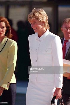 Princess Diana Arriving At Buenos Aires Airport For Her Historic Visit To Argentina.