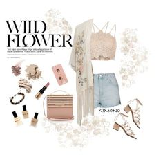 """Wild flower in the midst of daisies"" by melliflusous ❤ liked on Polyvore featuring River Island, Topshop, Miss Selfridge, Chloé, Iphoria, Eddie Borgo, Bobbi Brown Cosmetics, Bare Escentuals, Lauren B. Beauty and Gucci"