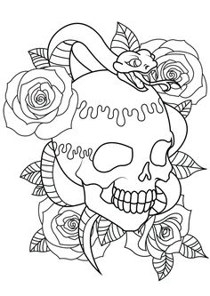 Tattoo Coloring Book Pages Awesome Skull Coloring Pages for Adults Snake Coloring Pages, Peacock Coloring Pages, Tattoo Coloring Book, Unicorn Coloring Pages, Online Coloring Pages, Flower Coloring Pages, Mandala Coloring Pages, Coloring Pages To Print, Coloring Book Pages