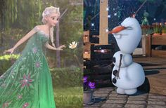 Elsa and olaf-like a mother and son-2