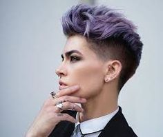 Image result for lilac pixie cut