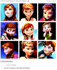 frozen - Anna biting her lip… aaaaaand why is this such a big deal? Disney Films, Disney And Dreamworks, Disney Pixar, Walt Disney, Disney Characters, Pixar Movies, Kid Movies, Jelsa, Anna Frozen