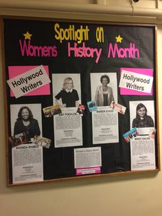 Resident assistant bulletin board women's history month