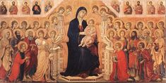 Duccio, Maestà (Madonna with Angels and Saints) Date between 1308 and 1311