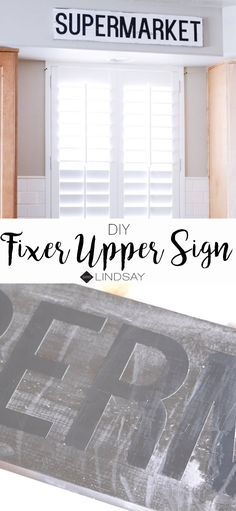 Create this inspired Fixer Upper style kitchen sign with your Cricut Explore Get the look of The Gaines' kitchen by recreating their Supermarket sign. Farmhouse Style Decorating, Decorating Your Home, Farmhouse Decor, Diy Home Decor, Modern Farmhouse, Do It Yourself Organization, Ethnic Decor, Kitchen Signs, Kitchen Decor