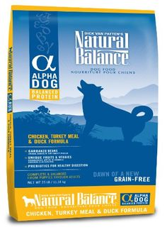 Natural Balance Alpha Grain-Free Chicken, Turkey Meal, and Duck Formula for Dogs, 25-Pound Bag >>> Check this awesome product by going to the link at the image.