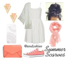 """Summer Scarves"" by andzskiee ❤ liked on Polyvore featuring Topshop, Converse, Kate Spade, Monika Strigel, Calypso St. Barth, Gorjana, Summer, white, coral and summerstyle"
