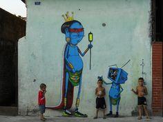 """Graffiti by Fabio de Oliveira, aka """"Cranio"""" (São Paulo, Brazil)."""