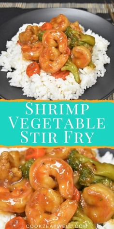 This Shrimp and Vegetable Stir Fry is a delicious, quick dinner that's really easy to make. In this recipe, large shrimp are quickly cooked with mixed vegetables in a homemade stir fry sauce. Shrimp Vegetable Stir Fry, Shrimp And Vegetables, Mixed Vegetables, Seafood Dishes, Seafood Recipes, Homemade Stir Fry Sauce, Large Shrimp, Healthiest Seafood, Fries