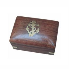 Maritime Holzbox 7,5x5x5cm Messing, Alter, Form, Material, Home Decor, Products, Treasure Chest, Dekoration, Submission