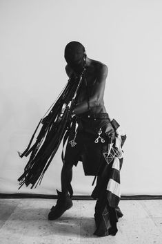 We would like to present to you Rick Owens' Spring/Summer 2019 Men's Paris collection backstage. Photography by Matthew Reeves. Fashion Sale, Dark Fashion, Mens Fashion, Fashion Brands, Rivethead, A Cold Wall, Conceptual Fashion, Rick Owens Men, Costume Design