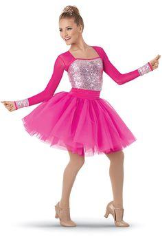 Weissman™ | Long-Sleeve Mesh Sequin Party Dress