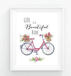 Bicycle Bike Print Printable Art Digital Art Digital by GozyBotsy