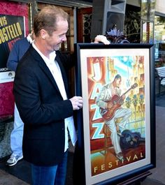 2015 Jacksonville Jazz Festival poster designer Russ Wilson and this year's poster along with Festival lineup