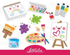 Cute Digital Clipart and DIY printable por LittleLiaGraphic Art Kawaii, Kawaii Doodles, Kawaii Chibi, Scrapbook Stickers, Planner Stickers, Cute Drawlings, Sofia The First Birthday Party, Image Clipart, Art Clipart