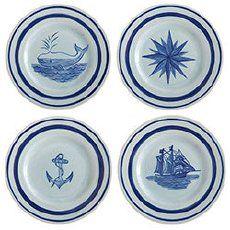 Nautical salad plates