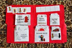Keepin' 2 Boys Busy: Fireman Lapbook