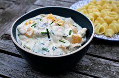 Gerechten zonder pakjes en zakjes #245. Boursin Cuisine - Pasta, Cheeseburger Chowder, Potato Salad, Mashed Potatoes, Boursin, Chicken, Cooking, Ethnic Recipes, Desserts