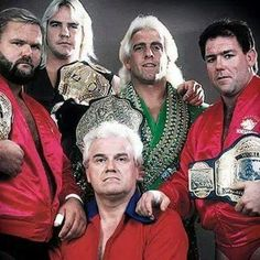 The best set of The Four Horsemen. Arn Anderson, Barry Windham, Ric Flair, and Tully Blanchard with James J. Dillion