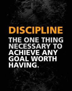 "Discipline is facing the choice between what you (think you) want now and what you (know you) want most—and pursuing the latter! ""Successful people have the habit of doing the things unsuccessful people don't like to do. They don't like doing them either, necessarily, but their disliking is subordinated to the strength of their purpose."" –Albert E. Gray"