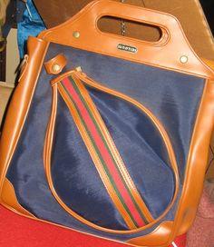 I love this Vintage tennis racket bag!