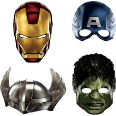 Avengers Masks 4ct