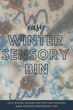 EASY WINTER SENSORY BIN // WINTER SENSORY BIN FOR PRESCHOOLERS // WINTER HOMESCHOOL FOR PRESCHOOLERS // EASY WINTER HOMESCHOOL ACTIVITIES // PRESCHOOL DIY Educational Activities For Kids, Outdoor Activities For Kids, Preschool Activities, Messy Play, Sensory Bins, Family Kids, Homeschool, Sensory Boxes, Homeschooling