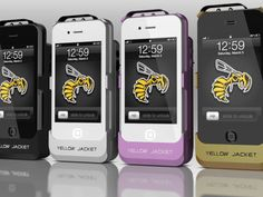 The Yellow Jacket iPhone case prototype combines phone protection with personal protection in the form of a built-in stun gun.