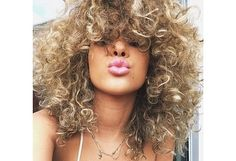 Two tone curly hair