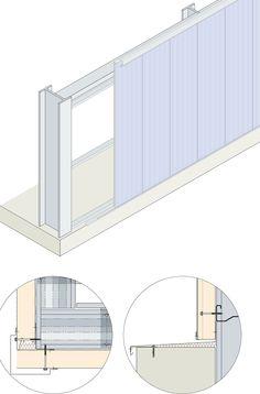 Сэндвич панели, Стеновые панели KS1000 AWP - Вертикальный монтаж - Метод строительства