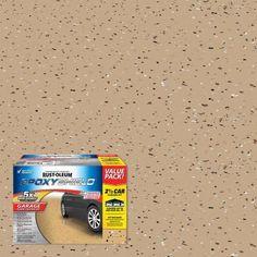 Rust-Oleum EpoxyShield 240 oz. Gray High-Gloss 2.5 Car Garage Floor Kit-301355 - The Home Depot Epoxy Garage Floor Paint, Painted Garage Walls, Epoxy Floor Basement, Garage Floor Coatings, Garage Floor Epoxy, Painted Floors, 5 Car Garage, Basement Furniture, Furniture Ideas