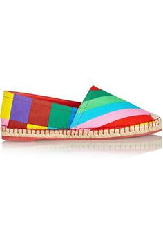 Sole measures approximately 1 inch Multicolored leather and suede Lace up front Striped Espadrilles, Elle Fashion, African Print Fashion, Trends, Love Necklace, Suede Sneakers, Valentino Garavani, Casual Shoes, My Style