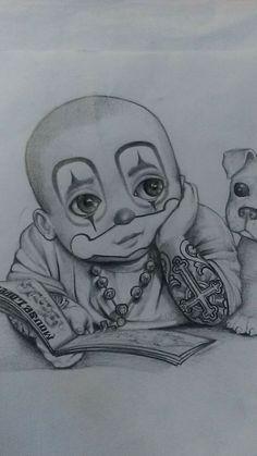 CRIAÇÃO CHICANA Chicano Art Tattoos, Chicano Lettering, Chicano Drawings, Chicano Tattoos Gangsters, Tattoo Design Drawings, Pencil Art Drawings, Cool Drawings, Drawing Sketches, Arte Cholo