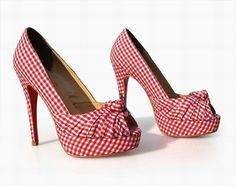 Christian Louboutins in gingham