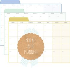 {Freebie} Printable Blog Planner | Direct Link- http://fellowfellow.com/wp-content/uploads/2012/12/LetterBlog_Planner.pdf