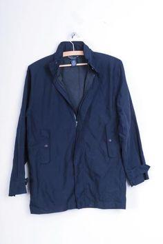 Polo by Ralph Lauren Womens M Coat Blue Mac Hood Spring - RetrospectClothes