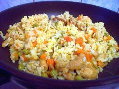 Kuřecí rýžová směs Fried Rice, Fries, Ethnic Recipes, Food, Essen, Meals, Nasi Goreng, Yemek, Stir Fry Rice