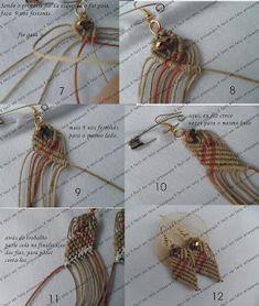 tutorial orecchini macramè - earrings diy