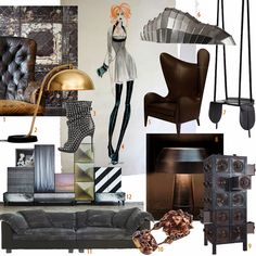 steampunk deco style