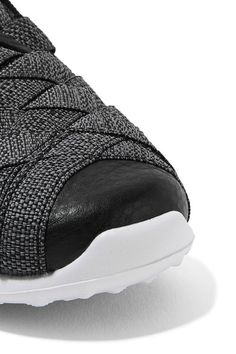 Nike - Juvenate Premium Faux Textured Leather-trimmed Woven Sneakers - Gray - US6.5