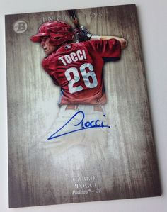 Carlos TOCCI 2014 Bowman INCEPTION on-card AUTOGRAPH Phillies #PhiladelphiaPhillies